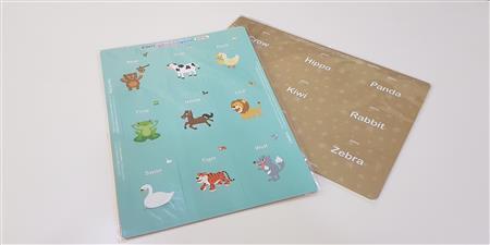ENGLISH CARD ANIMAL ALBERT UO